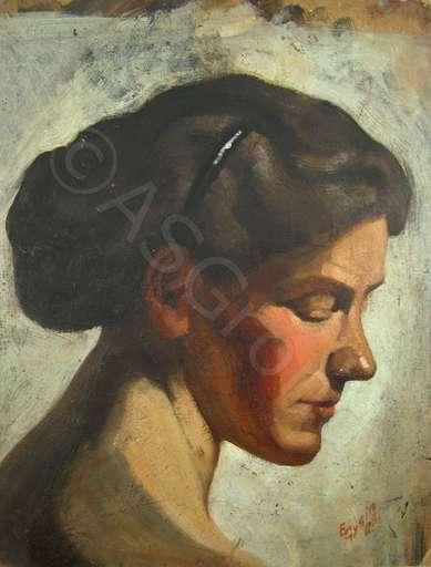 Emil GYSIN - 绘画 - Weibliches Portrait