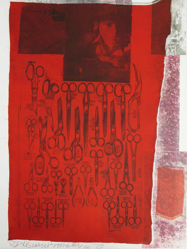 Robert RAUSCHENBERG - Stampa Multiplo - Most Visible parts of the sea