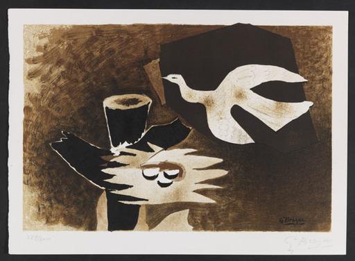 Georges BRAQUE - Grabado - L' oiseau et son nid