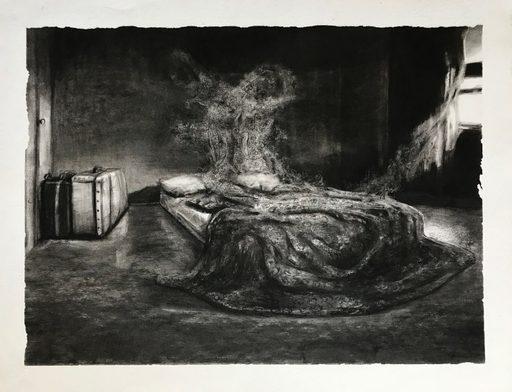 Marie DONNEVE - Drawing-Watercolor - « Phosphènes »
