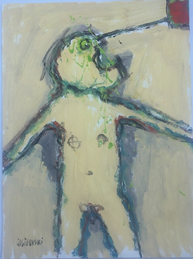Stéphane JOSIFOVSKI - Disegno Acquarello - HOMME QUI CRIE
