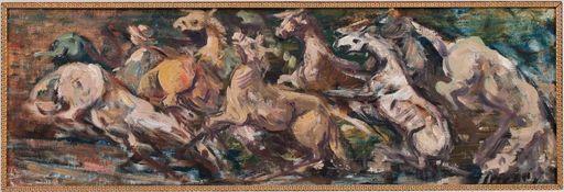 Epifanio IRIZARRY JUSINO - Gemälde - Estampida de Caballos