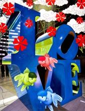 Hiro ANDO - Gemälde - blu love & green