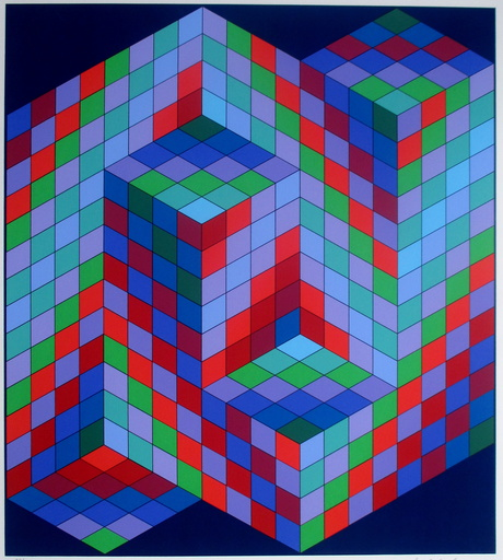 Victor VASARELY - Grabado - composition 6