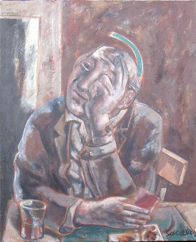 Alfonso SUCASAS GUERRA - Pittura - O XOGADOR