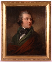 "Josef ABEL - Pintura - ""Portrait of Franz Gross"", Oil Painting, 1793"