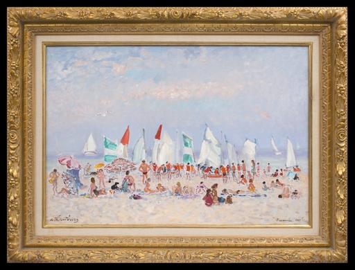 André HAMBOURG - Pintura - L'été à Deauville