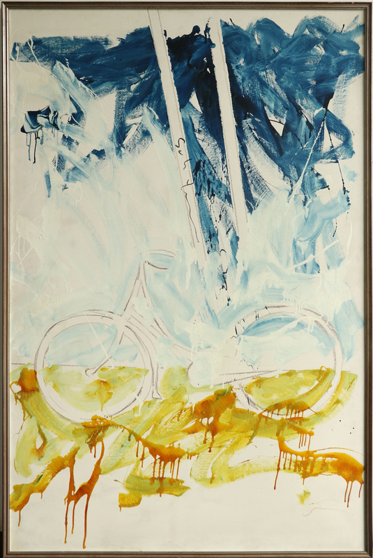 Mario SCHIFANO - Painting - Bicicletta