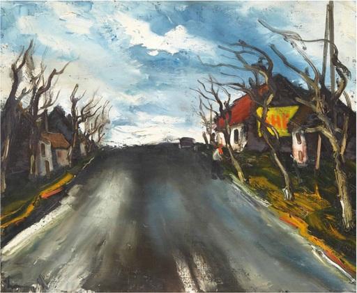 Maurice DE VLAMINCK - Pintura - Route de Beauce