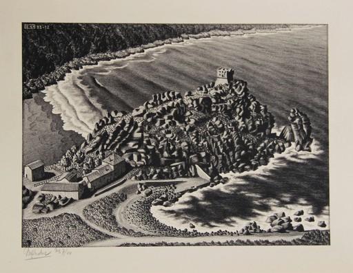Maurits Cornelis ESCHER - Estampe-Multiple - Gulf of Porto, Corsica