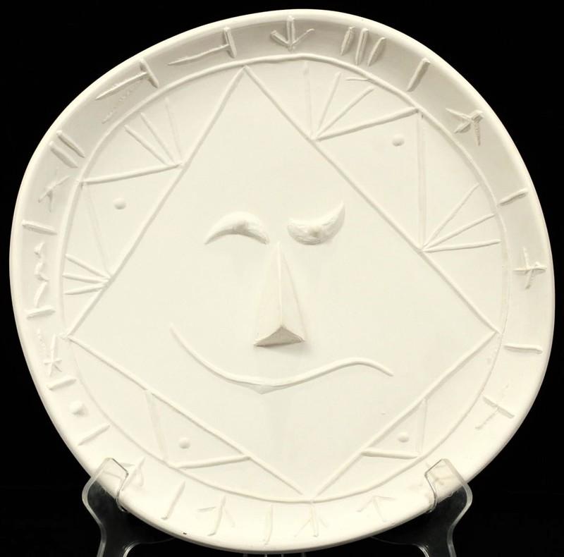 Pablo PICASSO - Ceramic - Visage géométrique
