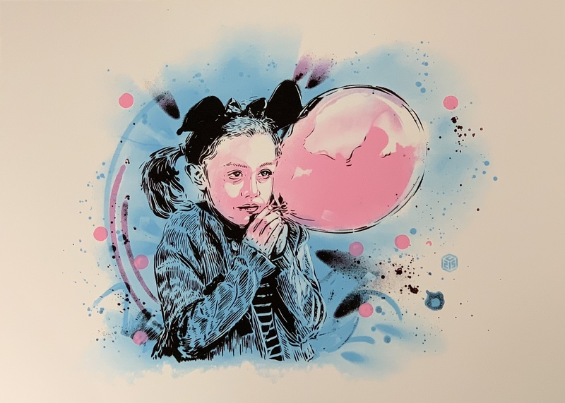 C215 - Estampe-Multiple - La fille au Ballon