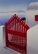 Elena BORSTEIN - Stampa Multiplo - The Red Gate
