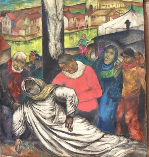 "Raymond DIERICKX - Drawing-Watercolor - ""PAMOISON DE LA VIERGE/ECCE HOMO3"
