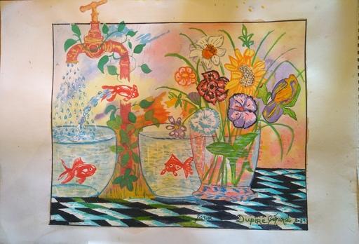 Gérard DUPIRÉ - Drawing-Watercolor - Eau de vie