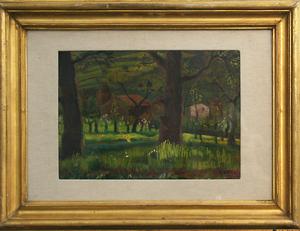Gerardo DOTTORI - Peinture - Bosco con Casolari