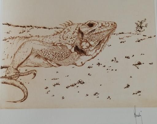 Bernard LOUEDIN - Grabado - Animal fantastique