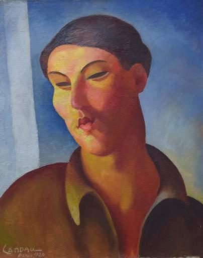 Sigmund LANDAU - Painting - Portrait de Femme