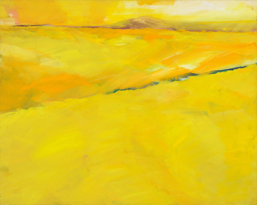 Bernd ZIMMER - Painting - Oltrepo. Campo Giallo