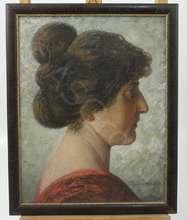 Ernst Otto LEUENBERGER - Peinture - Portrait einer Frau