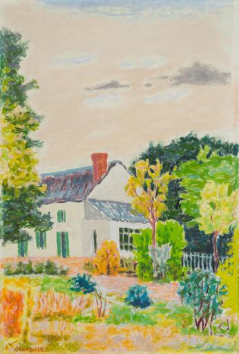 Jules CAVAILLES - Pittura - La maison blanche