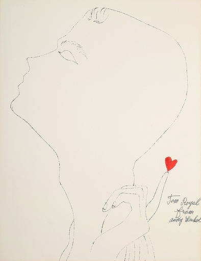 "Andy WARHOL - Stampa-Multiplo - Andy Warhol ""Tom Royal"" Blotted Line, Limited Edition"