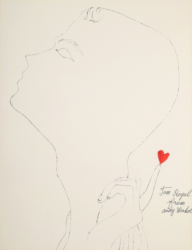 """Andy WARHOL - Stampa-Multiplo - Andy Warhol """"Tom Royal"""" Blotted Line, Limited Edition"""