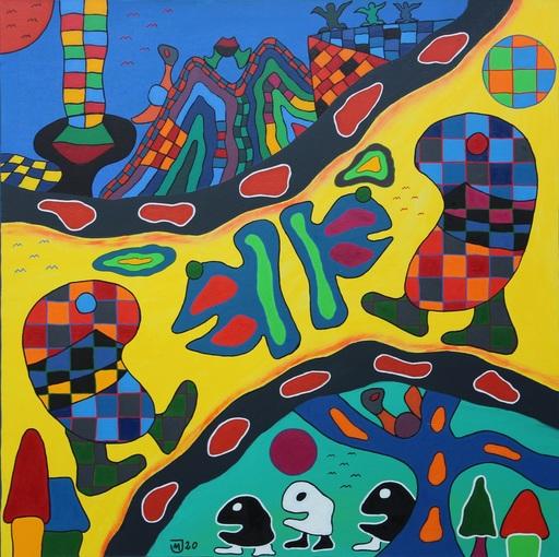 Michael JANSEN - Painting - Schicksalsgrenzen