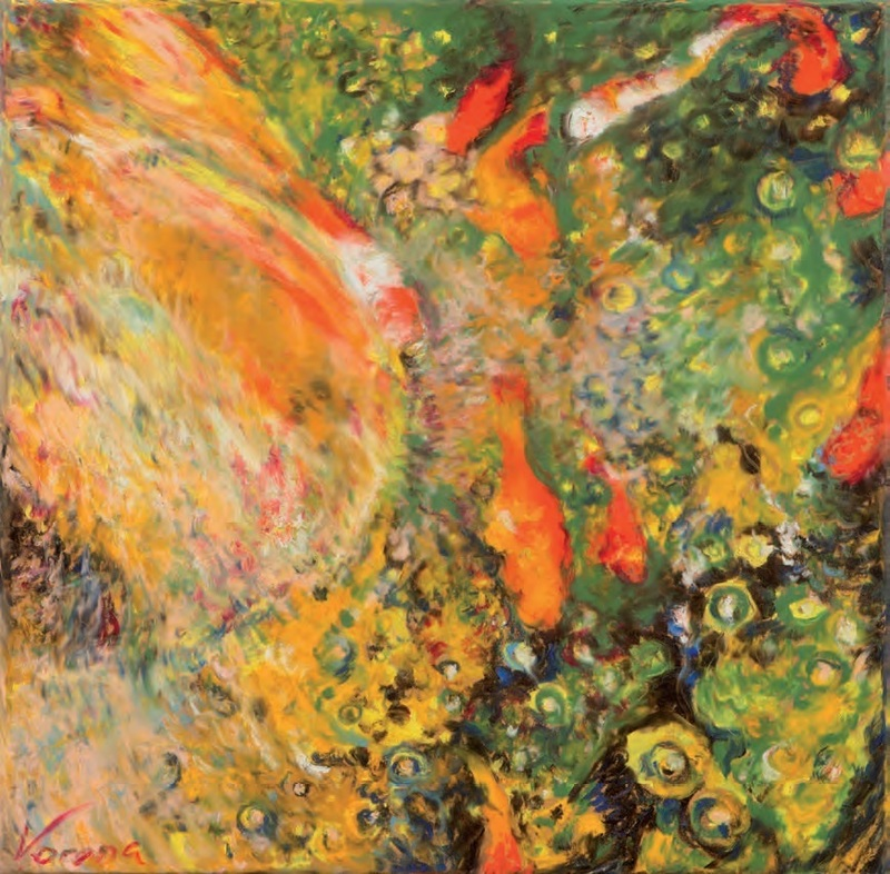 Ekaterina VORONA - Pittura - Boiling gold