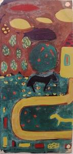 Albert CHUBAC - Pintura - paysages et chevaux