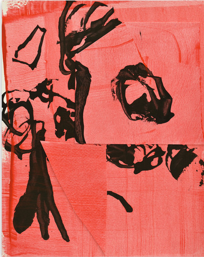 Stephen MAINE - Gemälde - Frankly Scarlet 3 (Abstract painting)