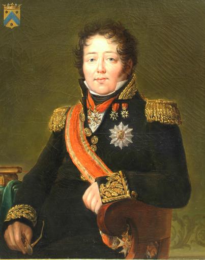 Alexandre Jean DUBOIS-DRAHONET - Gemälde - Portrait of the marquis Dubois-Descours de la Maisonfort