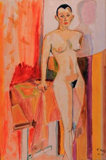 R.CAVALIÉ - Peinture - Jeune fille.