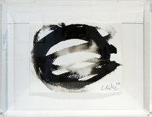 Günther UECKER - Drawing-Watercolor - Enso - Kreis