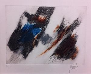 Fritz WINTER - Druckgrafik-Multiple - Farbaquatinta 8