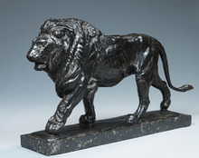 Paul JOUVE - Sculpture-Volume - Lion marchant