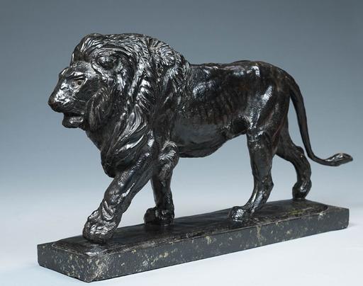 Paul JOUVE - Sculpture-Volume - Lion marchant