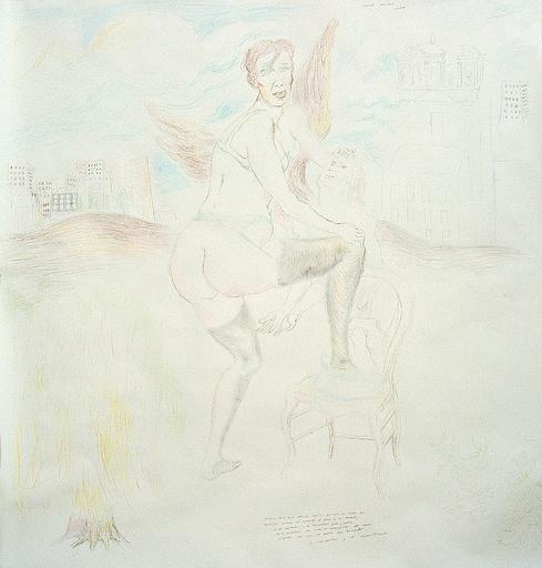 Manuel MONTERO - Dessin-Aquarelle - Portrait de la mère de Saint Augustin