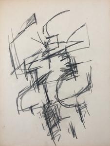 Jacques GERMAIN - Dibujo Acuarela - Composition vers 1955/1960
