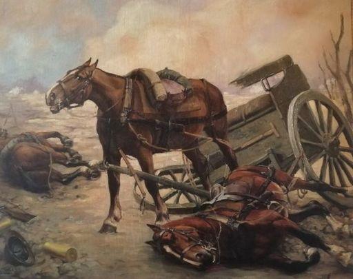 Constant DE BUSSCHERE - 绘画 - battle field