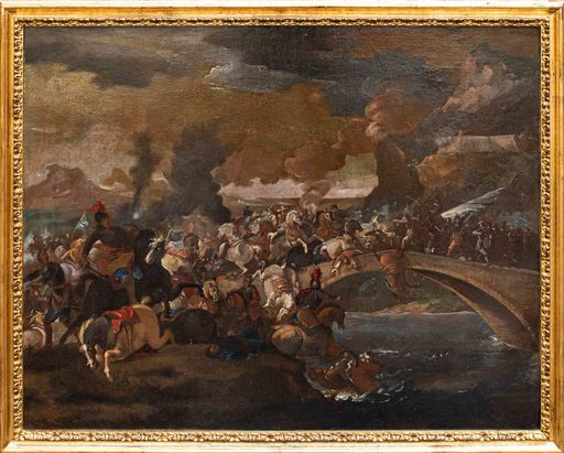 Marzio MASTURZIO - Painting - Battle on the bridge