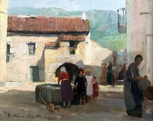 Biagio MERCADANTE - Gemälde - Donne al pozzo