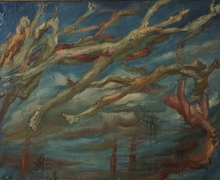 Jean AUJAME - Pintura - Les hommes volants