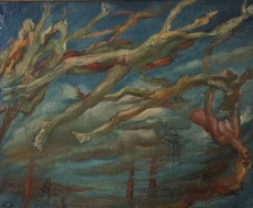 Jean AUJAME - Painting - Les hommes volants
