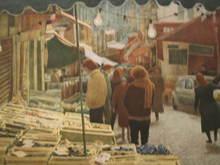 Harold ALTMAN - Grabado - L'étalage aux moules,1987.