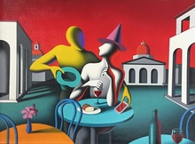 Mark KOSTABI - Pintura - Long story short