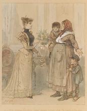 Louis Pierre Gabriel MOREL-RETZ - Drawing-Watercolor - Genre Scene, Watercolor, late 19th Century