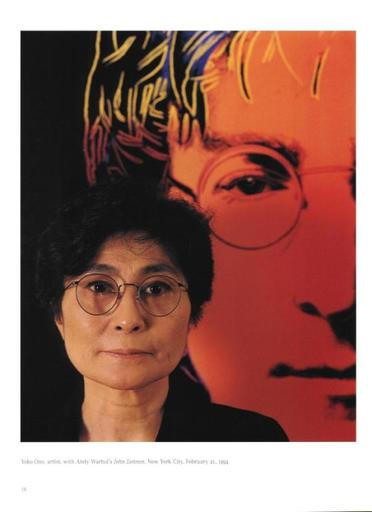 Abe FRAJNDLICH - Photography - Yoko Ono with Andy Warhol´s John Lennon