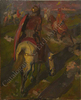 """Ulpiano CHECA Y SANZ - Painting - """"Guerriers castillans'"""