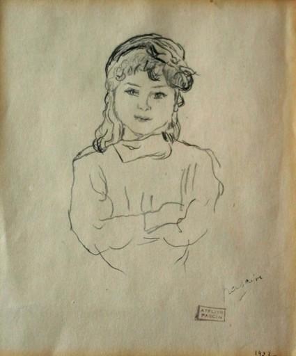 Jules PASCIN - Disegno Acquarello - L'écolière